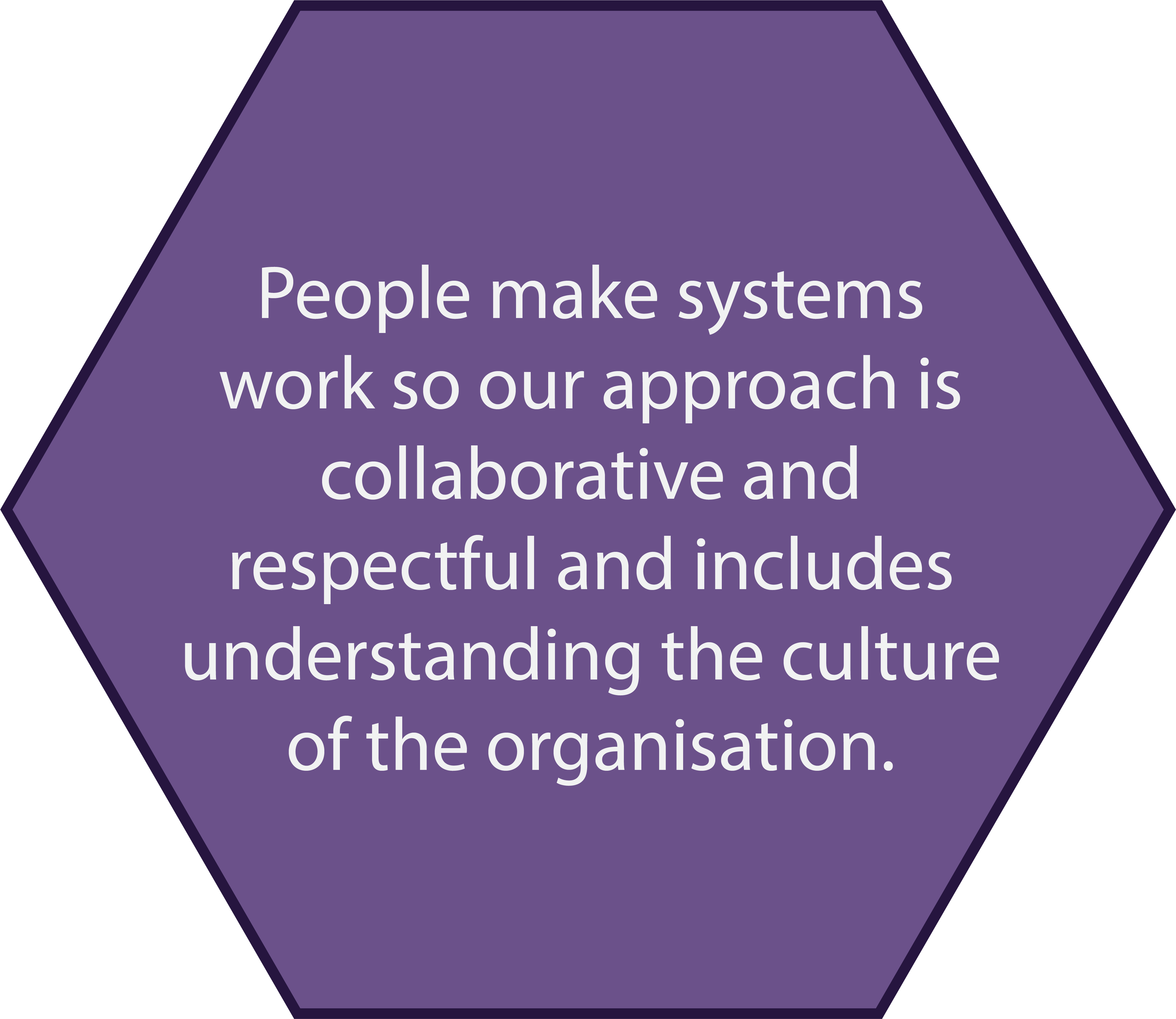 Collaborative and respectful, understanding organisations and their culture